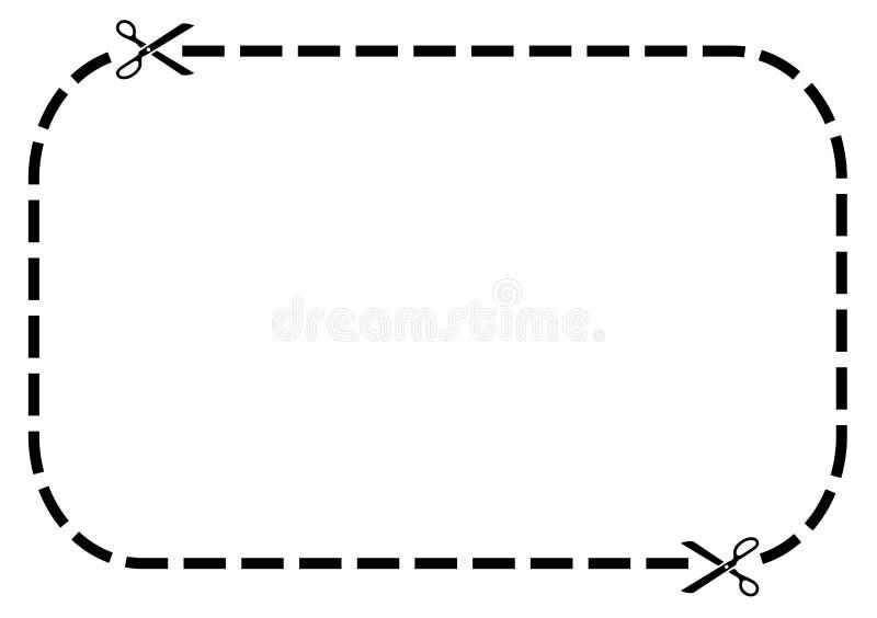 Kuponrand lizenzfreie abbildung