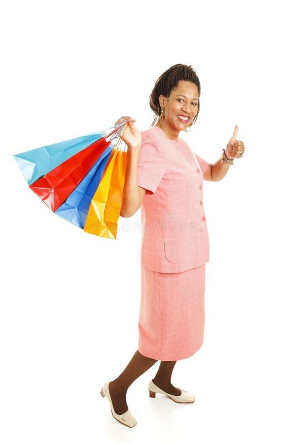 kupującego szczęśliwy thumbsup zdjęcia stock