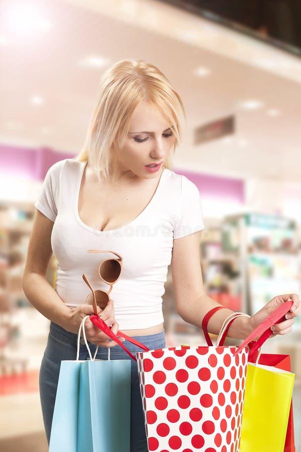 Kupujący kobieta obraz stock