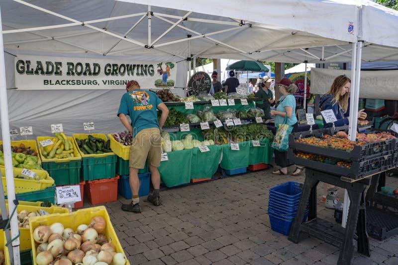 Kupujący przy rolnika rynkiem obrazy royalty free