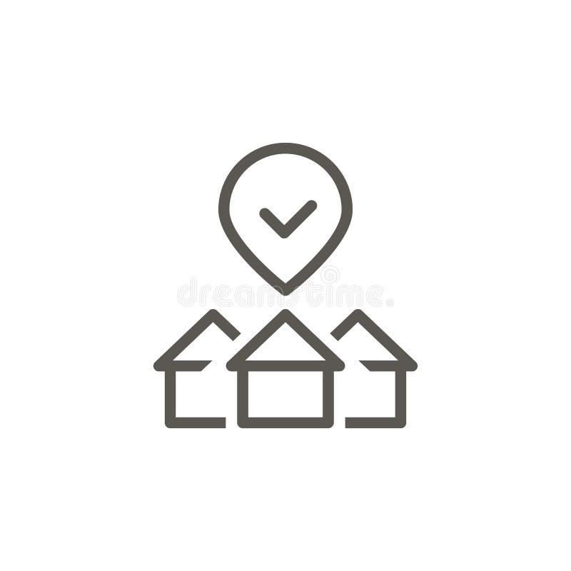 Kupuje, mieści, własność, wyboru wektoru ikona Prosta element ilustracja od UI poj?cia Kupuje, mieści, własność, wyboru wektor royalty ilustracja