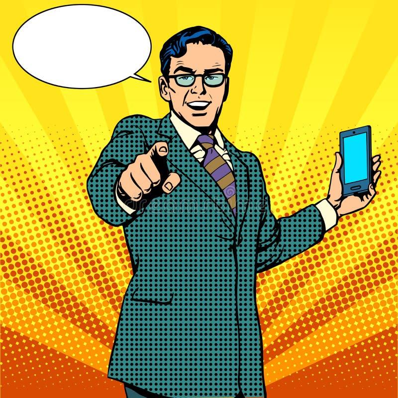 Kupuje nowego gadżetu i telefonu biznesu pojęcie ilustracja wektor