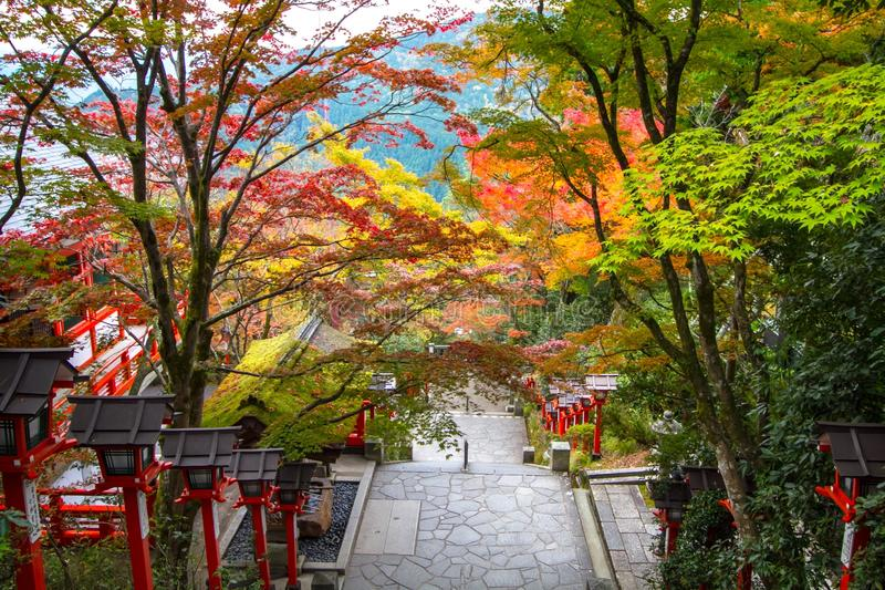 Kurama Shrine, Kyoto royalty free stock photos