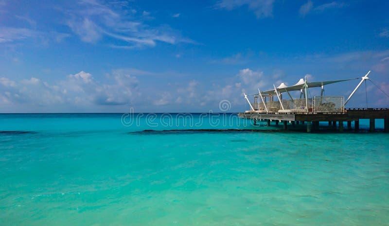 Kuramathi,马尔代夫海岛 图库摄影