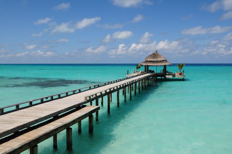 Kuramathi Insel-Rücksortierung in den Maldives, 2. Oktober lizenzfreies stockfoto