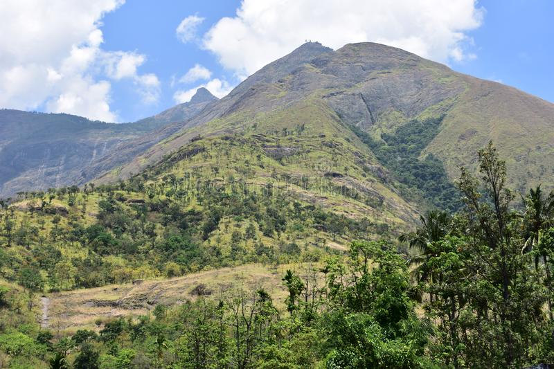 The Kurangani Hills near Bodinayakkanur in Theni district. Bodimettu is a locality in Theni district in the state of Tamil Nadu in India, near the border with stock photo