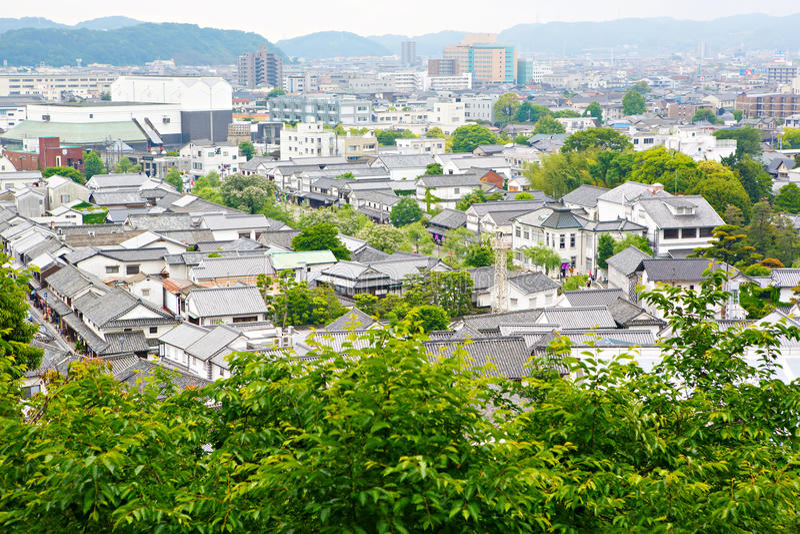 Kurashiki city, old japanese town in Okayama prefecture stock images