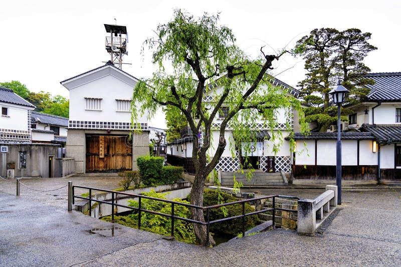 Kurashiki, Japan - April 28, 2014: Mening van het historische gebied van Bikan royalty-vrije stock afbeelding