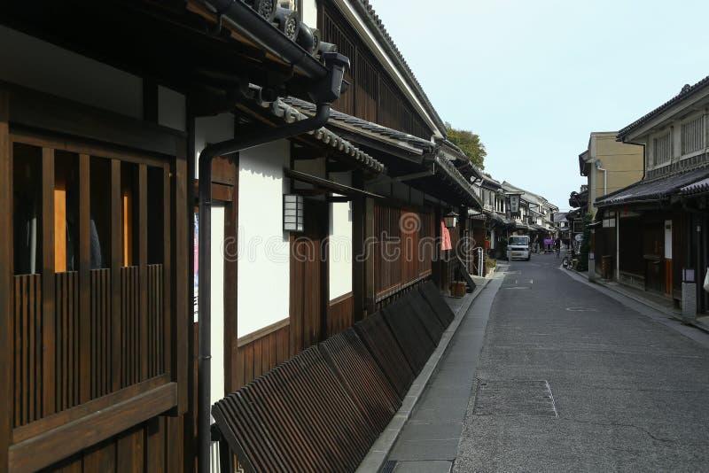 Ancient Edo-style souvenir shop at kurashiki, JAPAN. KURASHIKI, JAPAN - November 25 : Ancient Edo-style souvenir shop at kurashiki, JAPAN royalty free stock image