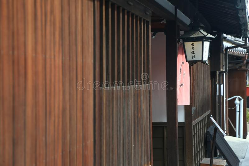 Ancient Edo-style souvenir shop at kurashiki, JAPAN. KURASHIKI, JAPAN - November 25 : Ancient Edo-style souvenir shop at kurashiki, JAPAN royalty free stock images
