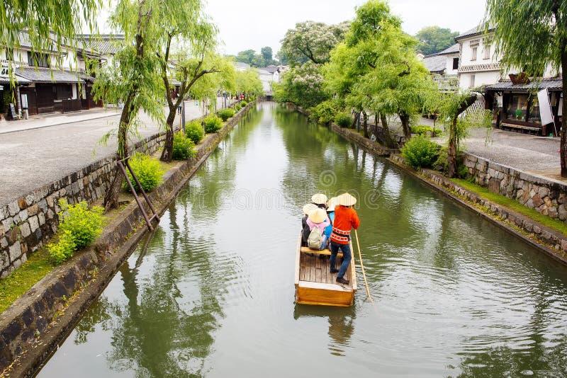 Kurashikistad, oude Japanse stad in Okayama stock fotografie