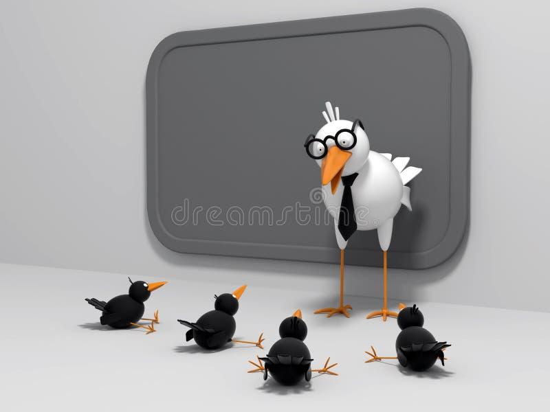 kurczątko ptasi nauczyciel ilustracja wektor