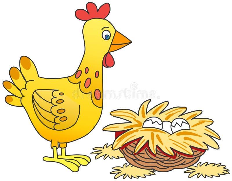 kurczaków jajka royalty ilustracja