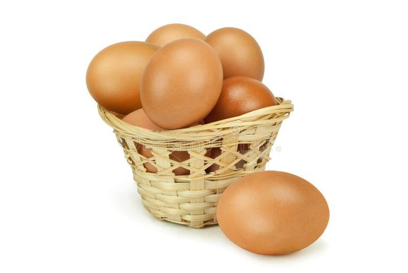 kurczaków koszykowi jajka obraz royalty free