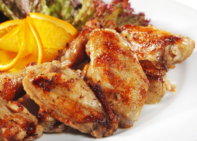 kurczaków naczynia smażyli gorących mięsnych skrzydła obrazy stock