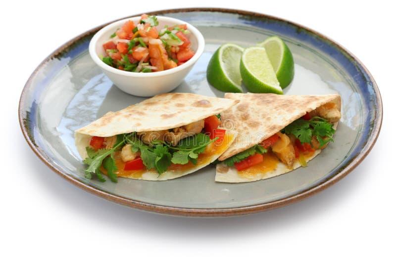 Kurczaków quesadillas zdjęcia stock