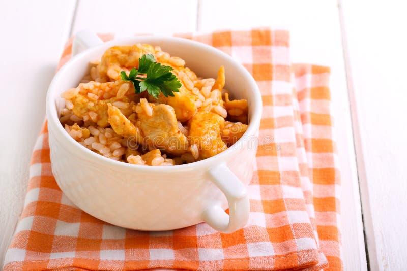 Kurczaków ryż i pierś fotografia royalty free