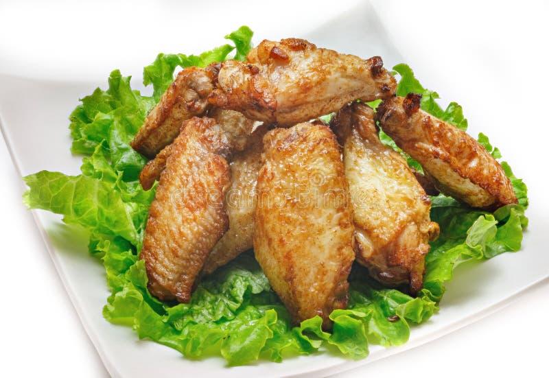 Kurczaków skrzydła na białym tle fotografia stock