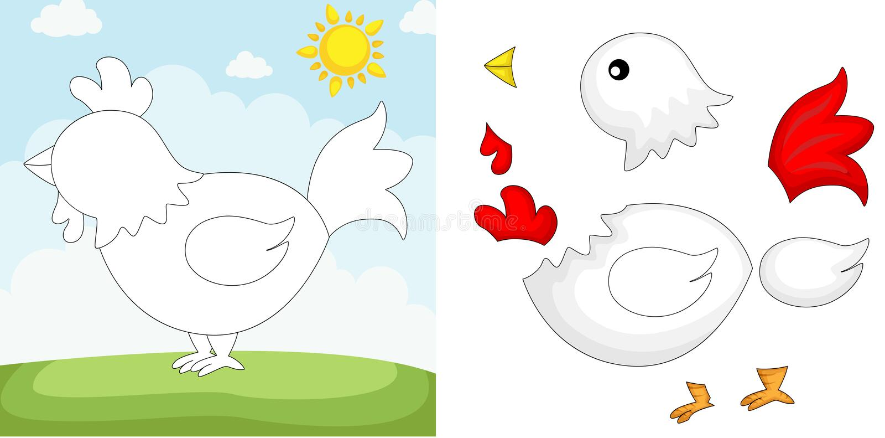 kurczak łamigłówka ilustracji