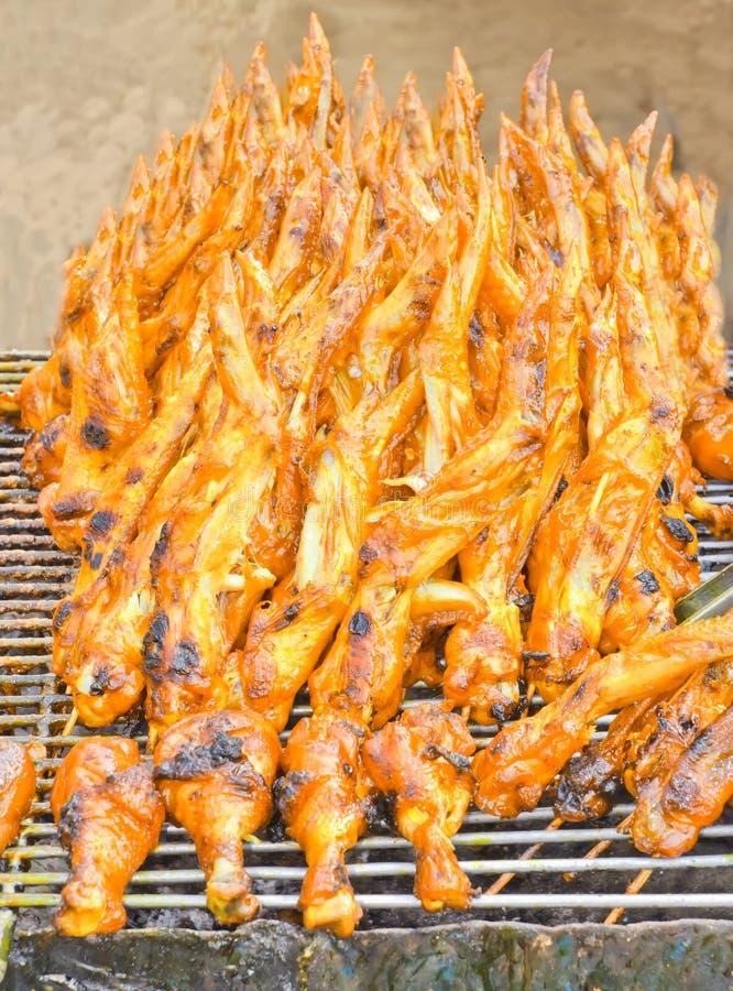Kurczak łydki i kurczaków skrzydła, piec na grillu obrazy stock