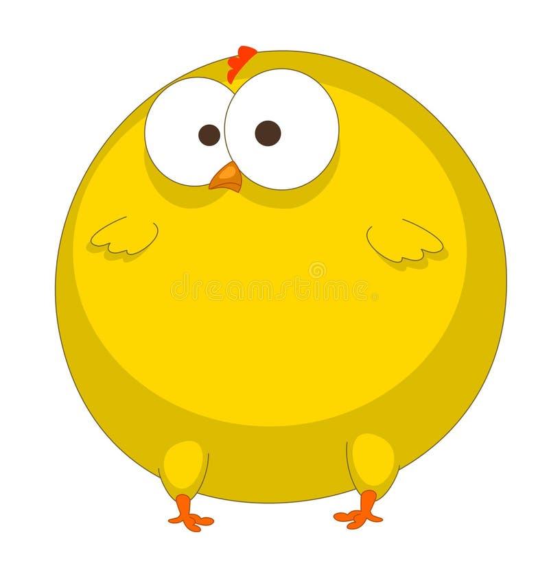 kurczak śmieszny royalty ilustracja