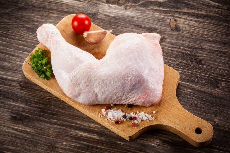 kurczak świeża noga surowa fotografia royalty free