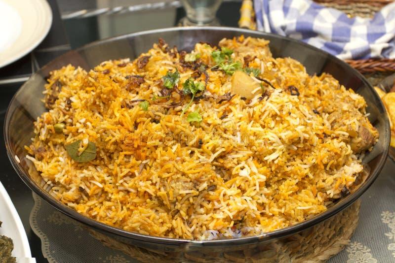 Kurczak Biryani korzenni ryż zdjęcie stock