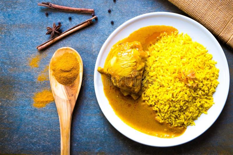 Kurczak Biryani z ryż zdjęcia royalty free