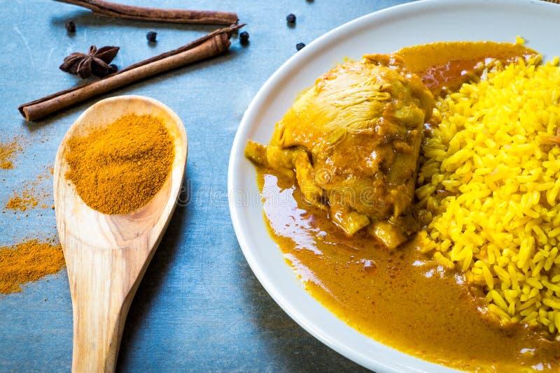 Kurczak Biryani z ryż zdjęcie royalty free