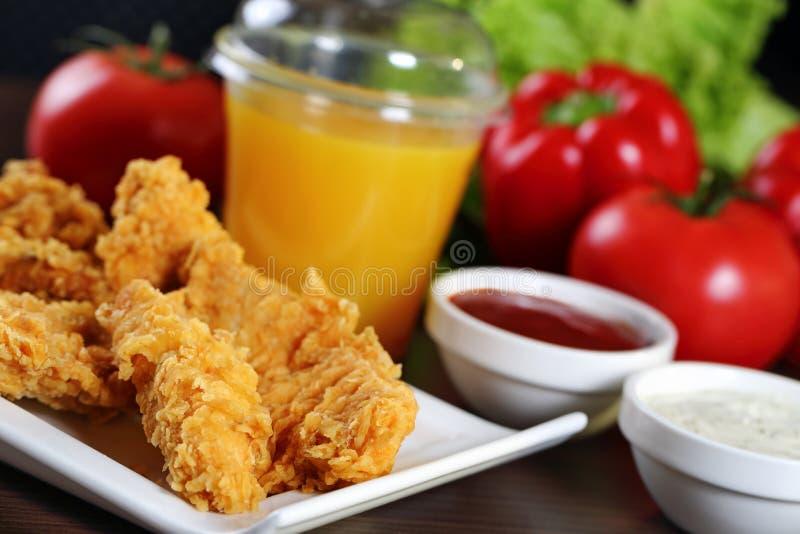Kurczak bryłki fotografia stock