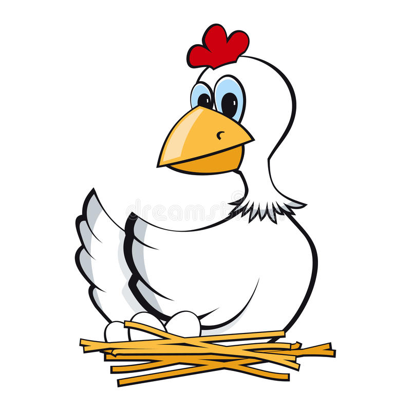 kurczak dźwigarka royalty ilustracja