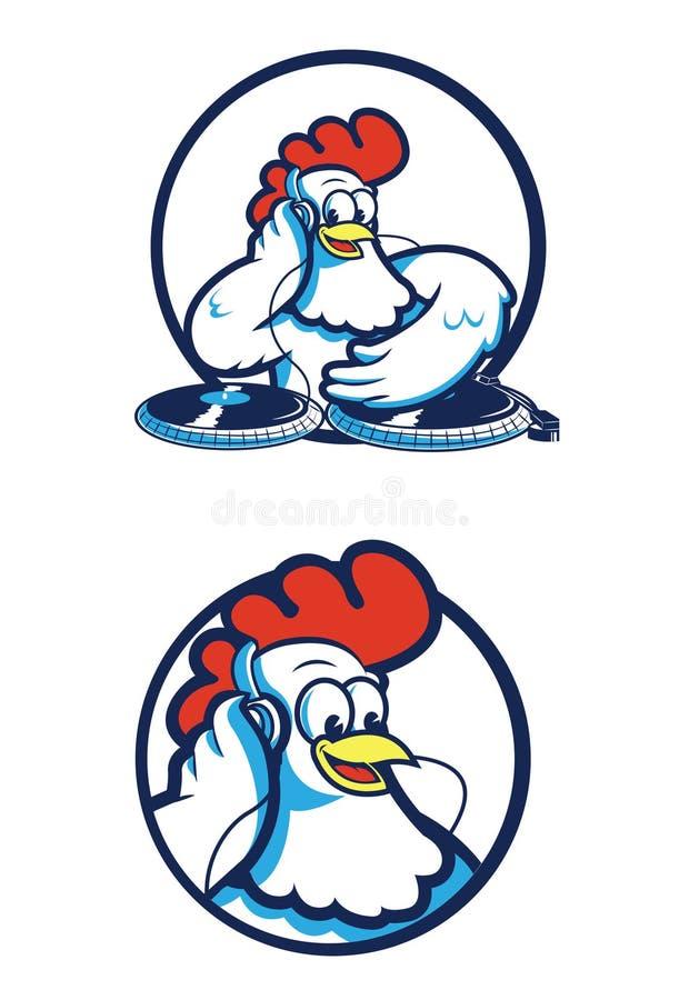 Kurczak DJ ilustracja wektor
