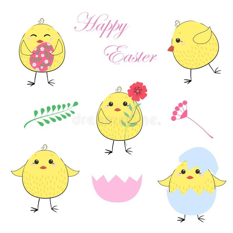 kurczak Easter szczęśliwy Ja jest wiosną royalty ilustracja