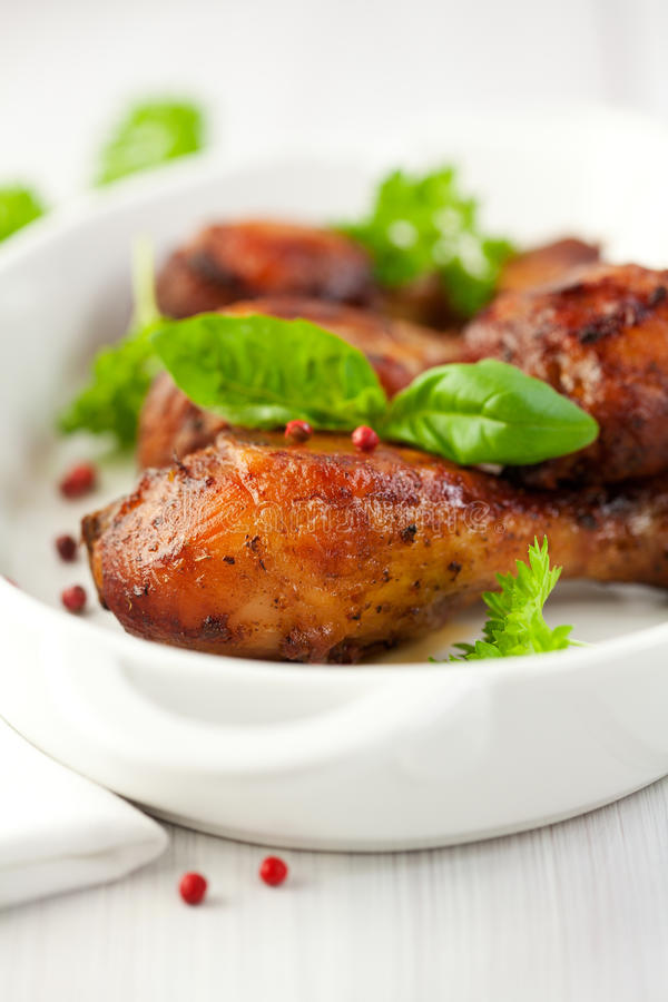 kurczak flavoured świeże ziele pieprzu menchie zdjęcia stock