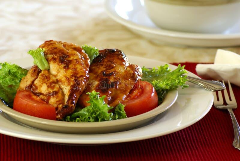 kurczak grilla fotografia stock