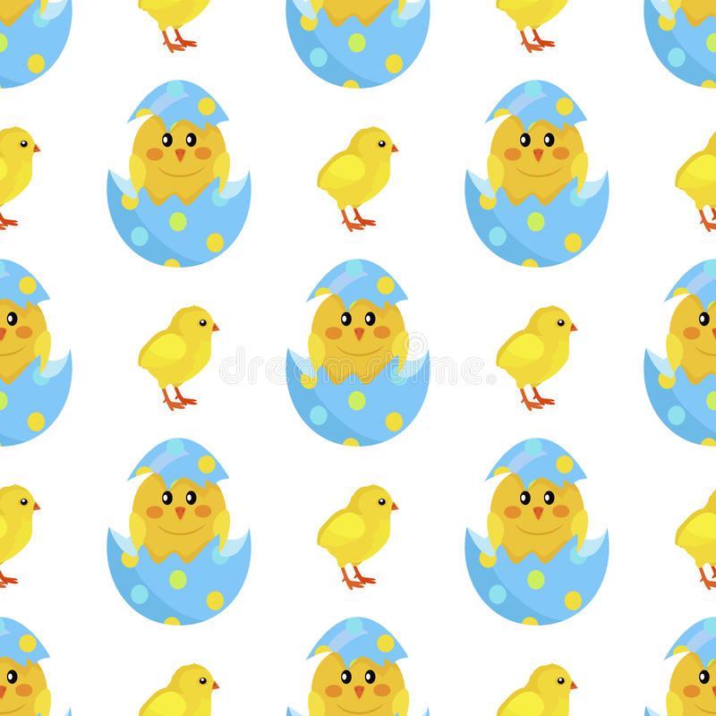 Kurczak i Nowonarodzony Pisklęcy ląg od Shell wektoru ilustracja wektor