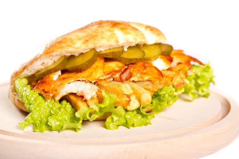 Download Kurczak kanapka obraz stock. Obraz złożonej z lunch, zakończenie - 28974673