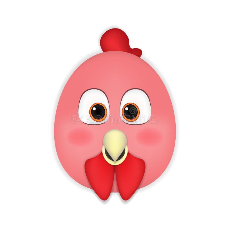 Kurczak kierownicza kreskówka ilustracji