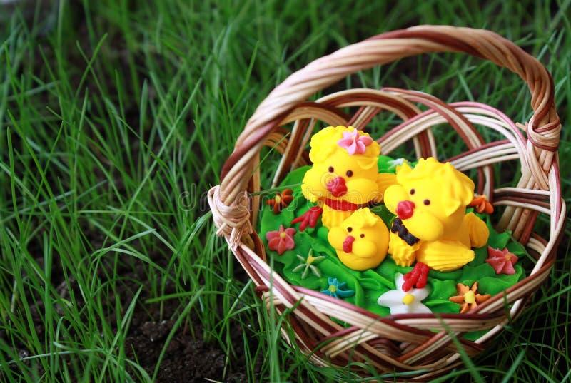 Download Kurczak koszykowa trawa zdjęcie stock. Obraz złożonej z biały - 13341752