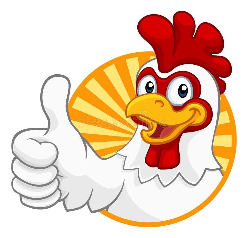 Kurczak kreskówki koguta Cockerel charakter royalty ilustracja