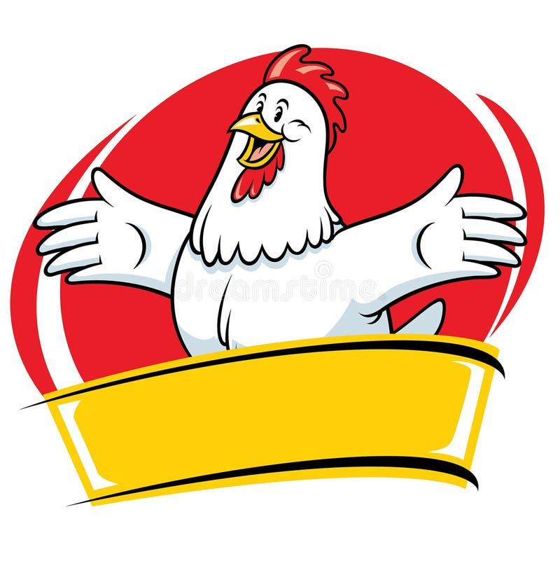 Kurczak kreskówki maskotki stylu charakter ilustracji