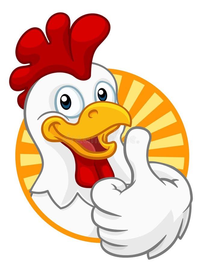 Kurczak kresk?wki koguta Cockerel charakter ilustracji