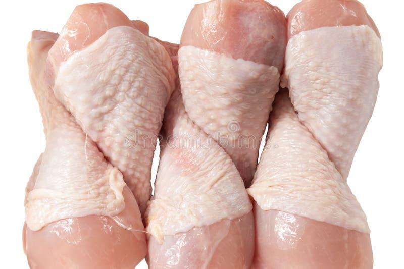 Kurczak nogi na bielu obraz stock