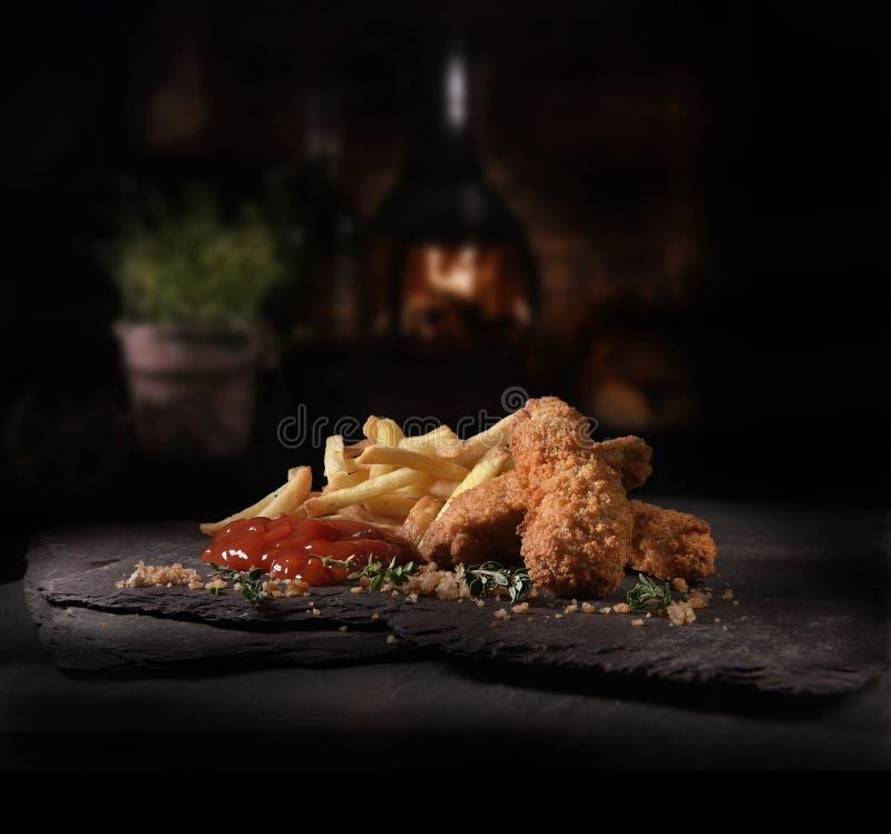 Kurczak Nuggets and Chicken zdjęcie royalty free