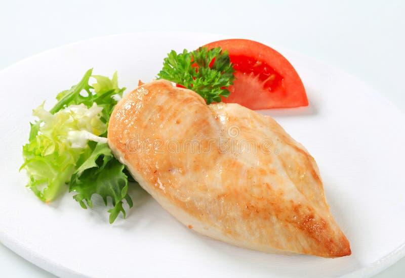 Kurczak osmalona pierś zdjęcie stock
