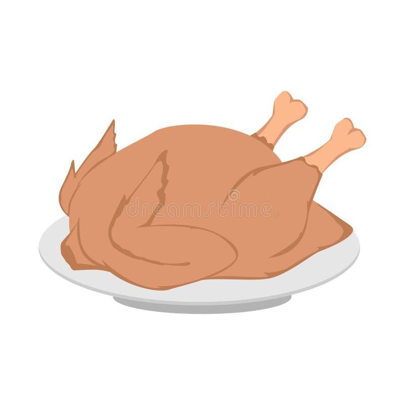 kurczak piec cały ilustracji