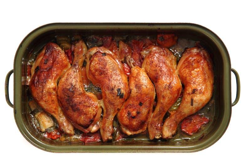 Kurczak piec na grillu nogi zdjęcia royalty free