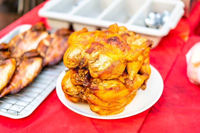 kurczak piec na grillu talerz obrazy royalty free