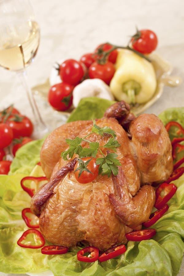 kurczak piec warzywa zdjęcia stock