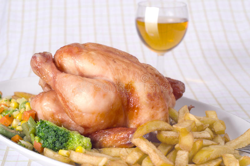 kurczak pieczeń zdjęcia royalty free